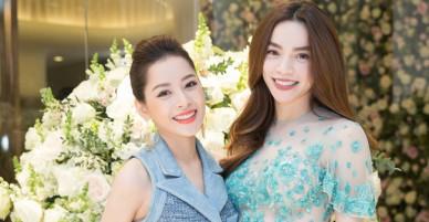 """Hà Hồ, Angela Phương Trinh, Đông Nhi """"đọ"""" váy trăm triệu đến ủng hộ mẹ chồng Hà Tăng"""