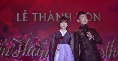 Ba bộ váy cưới lộng lẫy của cô dâu Hari Won
