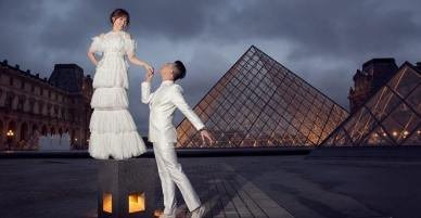 Bộ ảnh cưới lung linh của Trấn Thành - Hari Won tại thủ đô Paris