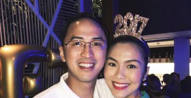 Gần cuối thai kỳ, Tăng Thanh Hà lộ gương mặt tròn trịa, hạnh phúc bên chồng