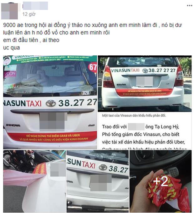 taxi Vinasun, Grab, Uber
