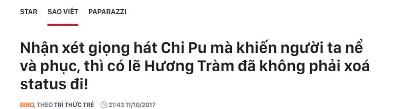 kenh14, Hương Tràm đá xéo Chi Pu