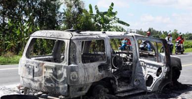 Rúng động: Mâu thuẫn nhỏ trong gia đình, con gái thuê người đốt xe, sát hại cha ruột