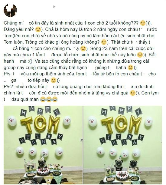 Chú chó pug số hưởng: Được chủ tổ chức sinh nhật 2 tuổi hoành tráng cùng anh em chiến hữu - Ảnh 1.