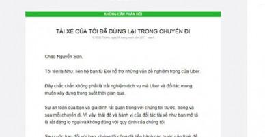 Tài xế Uber bỏ khách giữa đường, khách hàng thất vọng cách giải quyết
