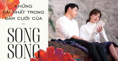 Chỉ siêu đám cưới của Song Joong Ki và Song Hye Kyo mới có thể đạt được những cái nhất siêu khủng thế này!