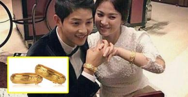 Song Joong Ki và Song Hye Kyo lộ hình đan tay tình cảm, đeo quà cưới vòng vàng long phượng khủng