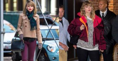 Taylor Swift gây ngỡ ngàng với thân hình phát tướng, hông nở đùi to trên phố