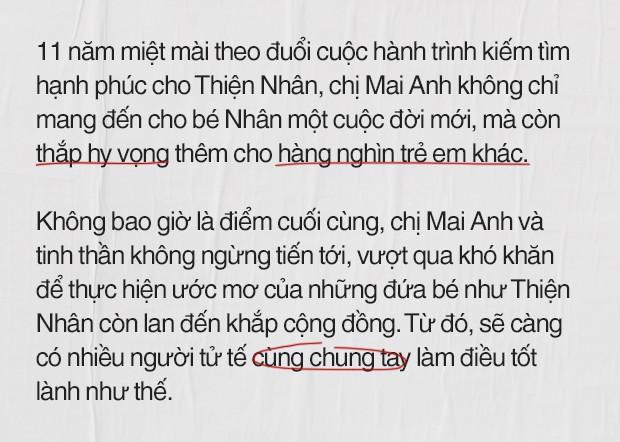 """""""Mẹ"""" Trần Mai Anh: Số phận không may mắn của Thiện Nhân đã mở ra cánh cửa hy vọng cho nhiều cuộc đời khác - Ảnh 1."""