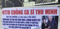 """Đòi tiền không được, chủ nợ bất lực căng băng rôn tố cáo vợ chồng Thu Minh trên xe tải rồi """"diễu hành"""" trên nhiều tuyến đường Sài Gòn"""