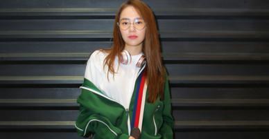 Minh Hằng diện đồ thể thao ra sân bay sang Dubai dự fashion week