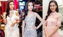 Đỗ Mỹ Linh đi sự kiện sau một ngày trở về từ Miss World