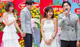 Mai Tài Phến nắm tay em gái mưa Thanh Vy về Kiên Giang giao lưu