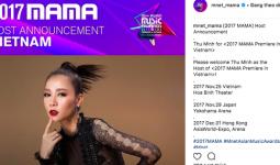 Không phải Ái Phương, đây mới là nghệ sĩ được MAMA 2017 chính thức chọn làm chủ xị tại Việt Nam