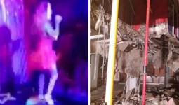 Sân khấu hộp đêm đổ sập khiến 40 người bị thương