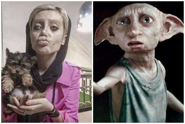 Cô gái phẫu thuật thẩm mỹ hơn 50 lần đề nhìn giống Angelina Jolie, kết quả trả về gia tinh Dobby - Ảnh 5.