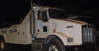 Xe kéo khủng của Cục quản lý đường bộ xuất hiện ở trạm BOT Cai Lậy