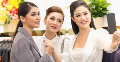 Á hậu Thùy Dung, Diễm Trang đến mừng Ngọc Hân làm bà chủ