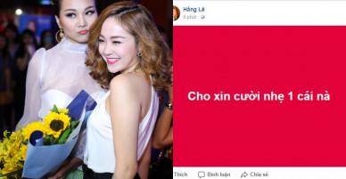Minh Hằng treo status 'lạ' sau phát ngôn của Thanh Hằng về lùm xùm cũ giữa cô với Hồ Ngọc Hà