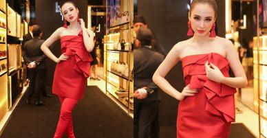 Angela Phương Trinh diện 'cây đỏ' nổi bật bên dàn fashionista