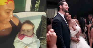 Con gái mới ba tháng tuổi, Serena tính chuyện cai sữa mẹ
