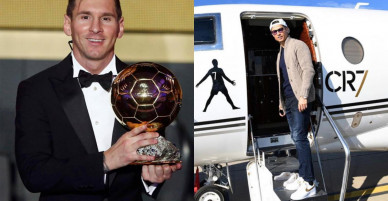 C. Ronaldo và người yêu được tặng quà ở Gala Quả bóng vàng