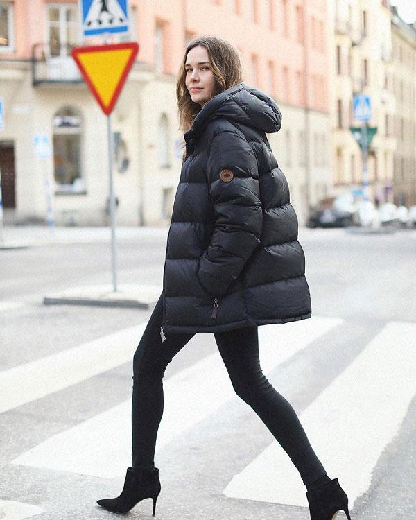 Gợi ý diện áo phao ngày mưa lạnh