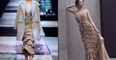 Á hậu Thuý Vân kém sắc hơn hẳn khi 'mặc lại' thiết kế của Kỳ Duyên, Hari Won