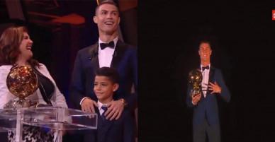 Con trai Ronaldo quả quyết sẽ chơi giỏi hơn bố