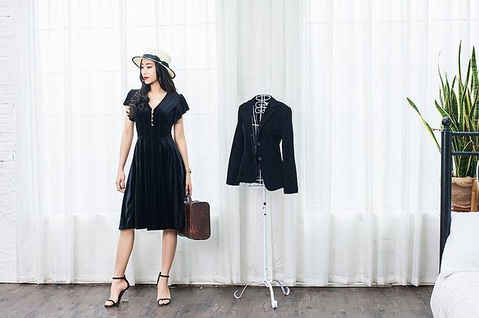 Những kiểu váy nhung hợp mốt mùa thu đông 2017