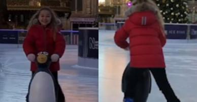 Nụ cười của Beckham khi nhìn Harper tập trượt băng đã đủ chứng minh anh yêu con gái nhiều thế nào!
