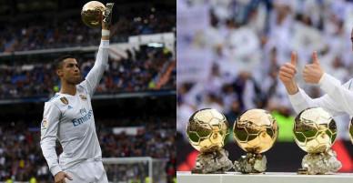 C. Ronaldo khoe 5 bóng vàng, lập cú đúp giúp Real đại thắng