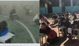 Thực hư việc học sinh Trung Quốc bị bắt ngồi học giữa trời đông 0 độ C