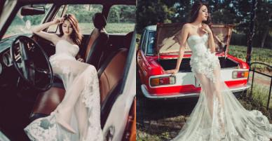Chế Nguyễn Quỳnh Châu mặc váy cưới đẹp lộng lẫy và sexy