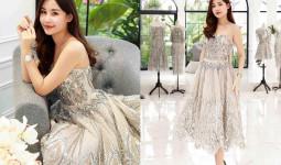 Hoa hậu Đại dương Ngân Anh thử váy sexy dự show Chung Thanh Phong