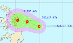 Xuất hiện áp thấp nhiệt đới có khả năng mạnh lên thành bão gần biển Đông