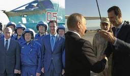 Putin bất ngờ đến Syria ăn mừng chiến thắng IS