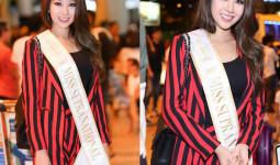 Tân Hoa hậu Siêu quốc gia diện trang phục giản dị, rạng rỡ xuất hiện tại Việt Nam
