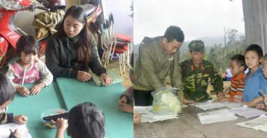 Học dưới lán trại dã chiến