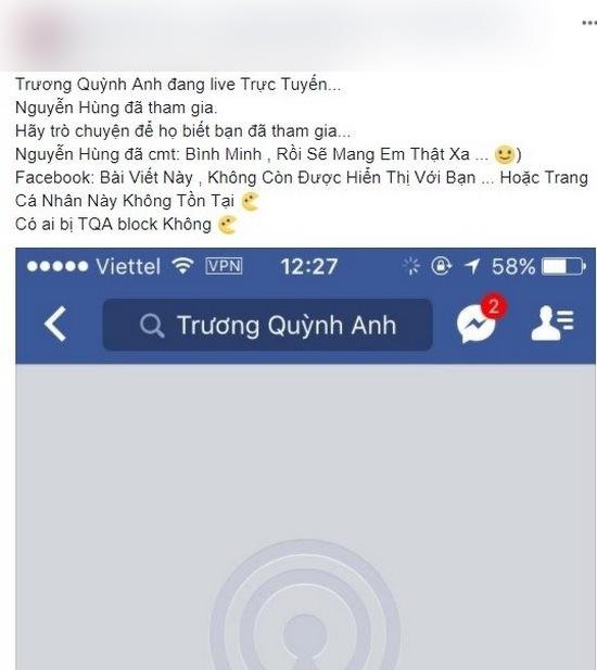 Trương Quỳnh Anh hành động thẳng tay khi dân mạng nhắc tới Bình Minh