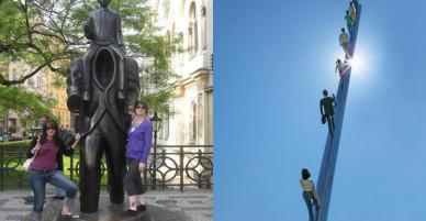 """Phì cười với những bức tượng """"khác thường"""" nằm đầy đường"""