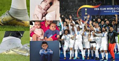 4 con yêu luôn theo chân Ronaldo trong từng bước chạy