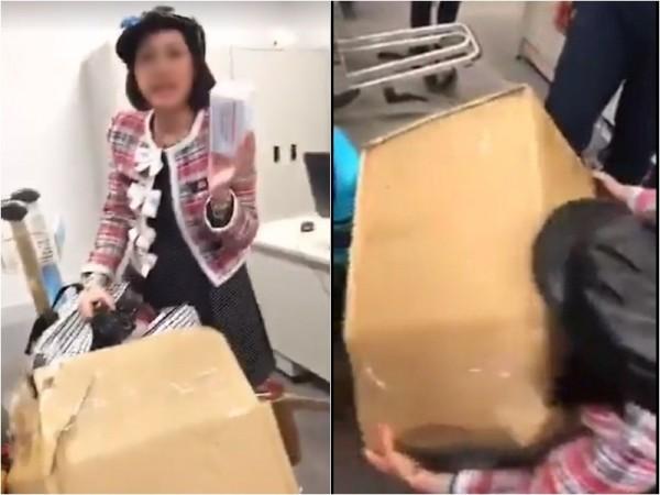 Cục Hải Quan vào cuộc vụ nữ hành khách quay clip tố bị giữ hàng hóa vì không đóng luật ở sân bay Nội Bài - Ảnh 1.