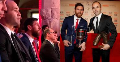 Sao bự Barcelona bảnh bao đi nhận giải thưởng lớn của La Liga