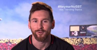 Messi gửi thông điệp nhớ thương tới Neymar
