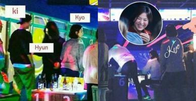 Vợ chồng son Song Joong Ki và Song Hye Kyo cùng bạn bè đi chơi bowling đêm Giáng Sinh