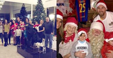 Messi đưa gia đình đi thăm ông già Noel