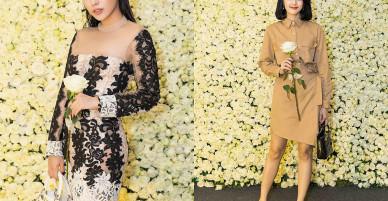 Hạ Vi kín đáo, Khánh Phương diện váy xuyên thấu đi sự kiện