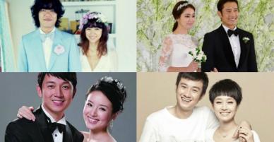 Các cặp sao kết hôn cùng thời điểm: Người hạnh phúc bên chồng nghèo, kẻ khổ sở khi lấy đại gia
