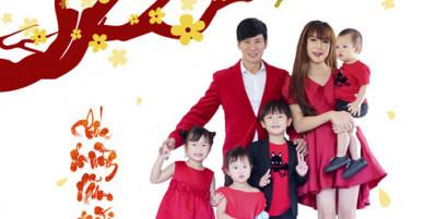 Gia đình Lý Hải chụp ảnh Tết cùng dàn diễn viên Lật mặt 3